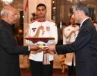 ENVOYS OF SIX NATIONS PRESENT CREDENTIALS TO PRESIDENT OF INDIA
