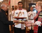 The Ambassador-designate of the Republic of Bulgaria, Eleonora Dimitrova presenting her credential to the President of India, Ram Nath Kovind