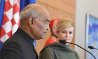 PRESIDENT OF INDIA ADDRESSES INDIAN COMMUNITY RECEPTION IN CROATIA