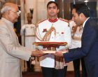The Ambassador – designate of Panama, Muhamad Talha Hajee Hajee presenting his credentials to the President, Ram Nath Kovind