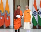 The Prime Minister, Narendra Modi meeting the Prime Minister of Bhutan, Dr. Lotay Tshering