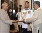 The Ambassador-designate of the Republic of Philippines, Ramon S. Bagatsing Jr. presenting his credential to the President, Ram Nath Kovind