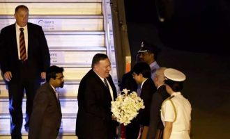 US Secretary of State Mike Pompeo arrives Delhi