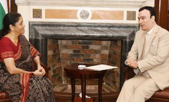 The Ambassador of UAE to India, Dr. Ahmed Al Banna calling on the Union Minister for Finance and Corporate Affairs, Nirmala Sitharaman