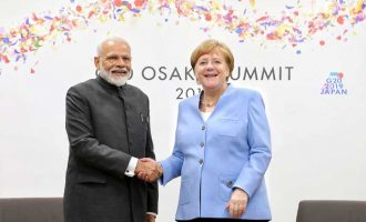 The Prime Minister, Narendra Modi meeting the German Chancellor, Dr. Angela Merkel