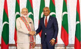 Maldives confers highest honour on PM Modi