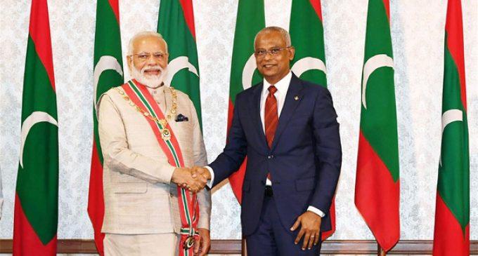 Maldives confers highest honour on PM Modi