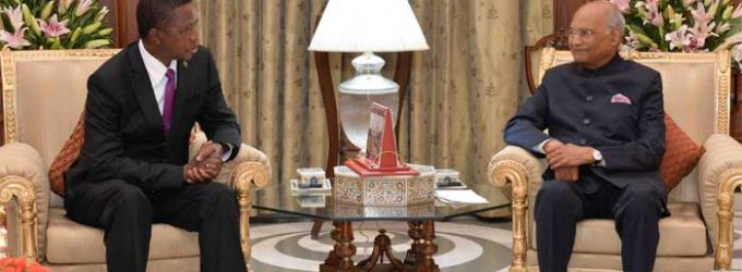 President Hosts President of Zambia; Says India is Committed To Cooperate with Zambia within the Framework of South-South Cooperation