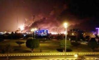 Drone attacks set Saudi oil facilities ablaze