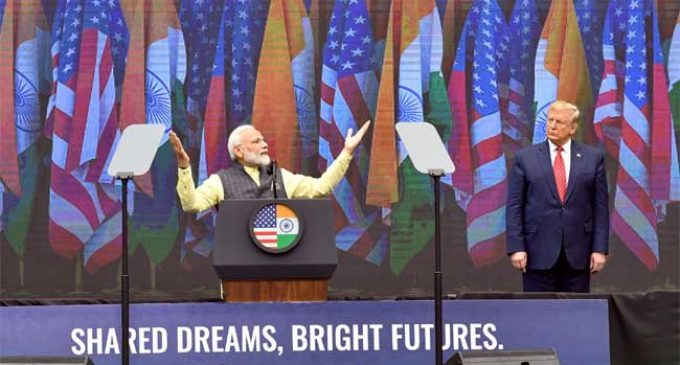 'Howdy, Modi': PM talks of $5 tn economy, low-cost data, GST