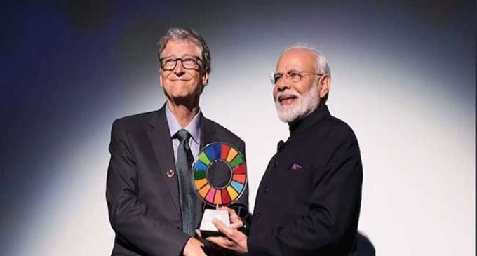 Modi receives Global Goalkeeper Award, dedicates it to 1.3 bn Indians