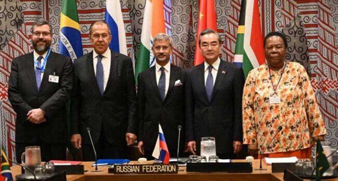 At UNGA, BRICS ministers condemn terrorism