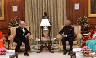 PRESIDENT OF INDIA HOSTS KING AND QUEEN OF SWEDEN