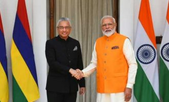 After re-election victory, Mauritius PM meets Modi
