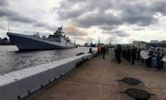 Indian, Russian navies conducting joint tri-services exercise