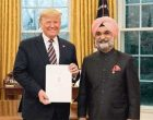 New Indian envoy to US presents credentials to Trump