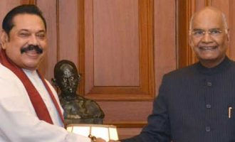 PRIME MINISTER OF SRI LANKA CALLS ON THE PRESIDENT OF INDIA