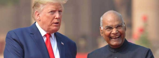 Donald J Trump, President of the United States of America receives by The President of India, Ram Nath Kovind