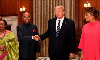 PRESIDENT HOSTS PRESIDENT OF USA; SAYS INDIA VIEWS THE U.S. AS A LONG-TERM FRIEND AND A NATURAL PARTNER