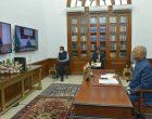 The Ambassador-designate of the Republic of Uzbekistan, Akhatov Dilshod Khamidovich presenting his credential to the President of India, Ram Nath Kovind