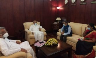Indian High Commissioner meets Sri Lankan Ministers of Fisheries & Foreign Relations
