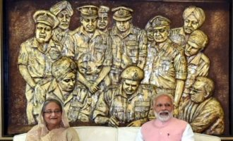 Modi-Hasina visit 'Bangabandhu-Bapu' digital exhibition