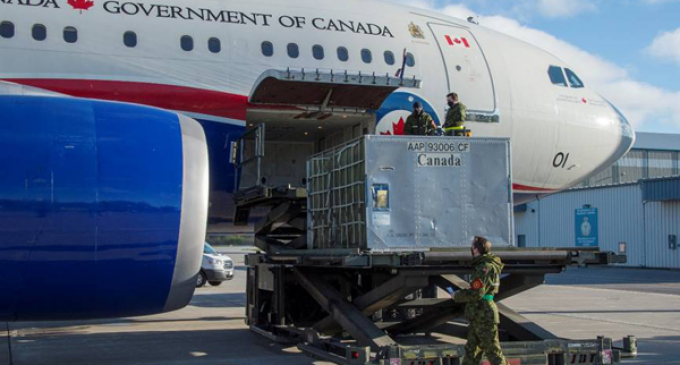 Second flight carrying medical supplies for India departs Canada