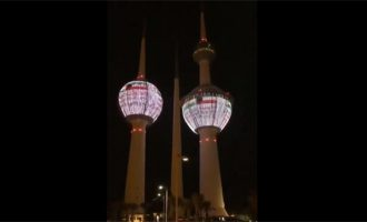 Kuwait Towers lights up to show solidarity and support to India