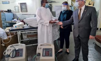 Malta High Commissioner to India, Reuben Gauci deliver oxgyen concentrators to Holy land Hospital