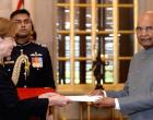 Ambassador-designate of Finland, Ritva Koukku-Ronde presents their credentials to the President of India, Ram Nath Kovind