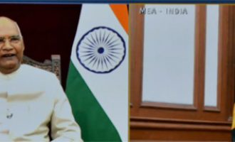 H.E. Mr. Jason Keats Matthew Hall, Commissioner of Jamaica presenting credentials to President of India