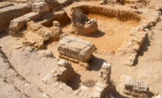 Remains of Greco-Roman town unearthed in Egypt's Alexandria