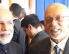 The Prime Minister, Narendra Modi meeting the President of Co-operative Republic of Guyana, Donald Ramotar