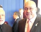 The Prime Minister, Narendra Modi meeting the President of the Republic of Suriname, Desi Bouterse