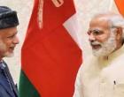 Oman Foreign Minister, Yousuf bin Alawi bin Abdullah calls on the Prime Minister, Narendra Modi,