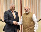 The Prime Minister, Shri Narendra Modi meeting the Prime Minister of Fiji, Mr. Josaia Voreqe Bainimariama