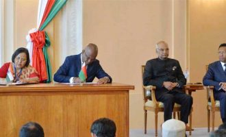 India, Madagascar shake hands by signing MoU in various field