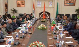 President of India, Ram Nath Kovind, along with Edgar Chagwa Lungu, the President of the Republic of Zambia