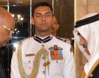 Ambassador-designate of the Kingdom of Bahrain, Abdulrahman Mohamed Ahmed Al Gaound presenting his credentials to the President, Ram Nath Kovind