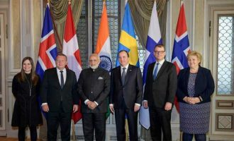 Modi meets PMs of Denmark, Iceland, Norway, Finland