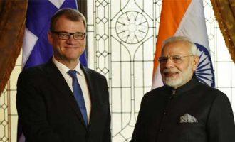 The Prime Minister, Shri Narendra Modi meeting the Prime Minister of Finland, Mr. Juha Sipila