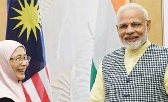 Prime Minister, Narendra Modi meeting the Deputy Prime Minister of Malaysia, Dr. Wan Azizah Wan Ismail