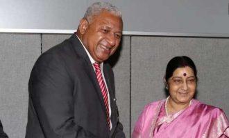 Sushma, Fiji PM discuss defence cooperation