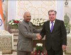 President of India, Ram Nath Kovind, during meeting with Emomali Rahmon, President of Tajikistan