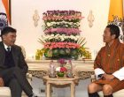 MoS (I/C) for Power and New and Renewable Energy, Raj Kumar Singh calling on the Prime Minister of Bhutan, Dr. Lotay Tshering