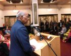 The President of India, Ram Nath Kovind, addressing the Indian Community Reception at Hotel Taj Cape Town in Cape Town, the Republic of South Africa