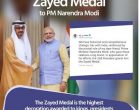 UAE awards Modi highest civilian honour
