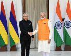 The Prime Minister, Narendra Modi meeting the Prime Minister of the Republic of Mauritius, Pravind Kumar Jugnauth