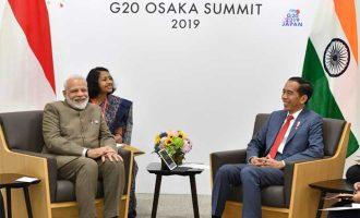 The Prime Minister, Narendra Modi meeting the President of Indonesia, Joko Widodo