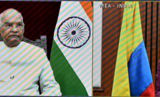 ENVOYS OF FOUR NATIONS PRESENT CREDENTIALS TO PRESIDENT OF INDIA THROUGH VIDEO CONFERENCE